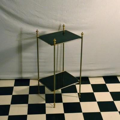 Table d'appoint en verre noir