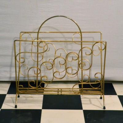 Porte-revue en métal doré