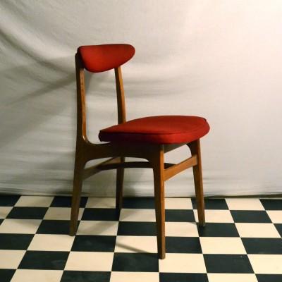 Série de 4 chaises polonaises rouges