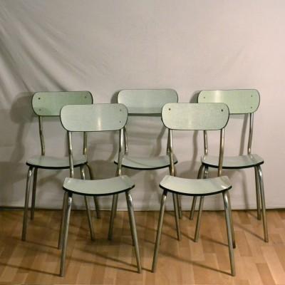 Ensemble de chaises formica vert d'eau