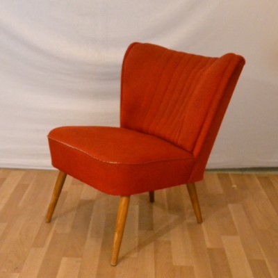 Fauteuil cocktail rouge