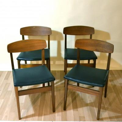Série de 4 chaises scandinaves