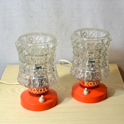 Paire de petites lampes de chevet