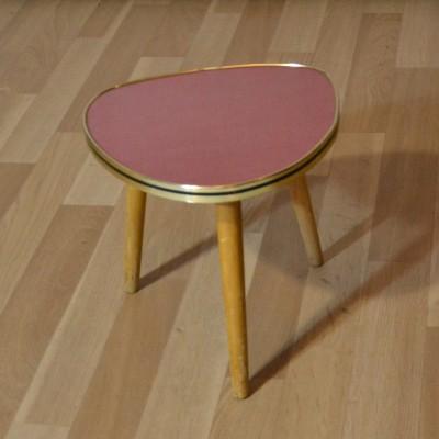 Mini table tripode rouge