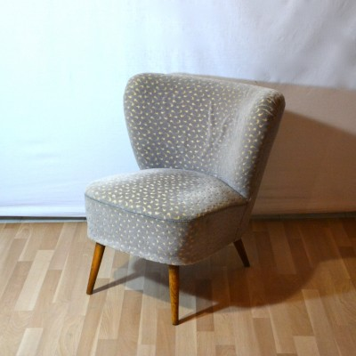 Fauteuil cocktail gris for Petit salon rotin