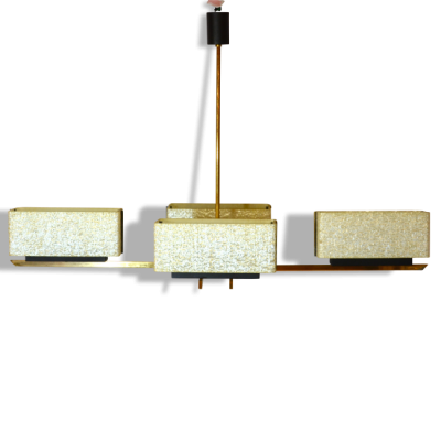 Grand lustre doré des années 60