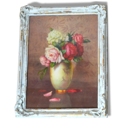 Série de 2 cadres floraux