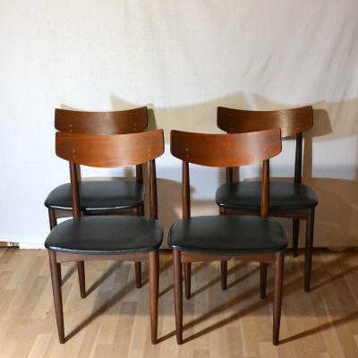 Série de 4 chaises danoises SAMCOM