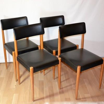 Série de 4 chaises années 60