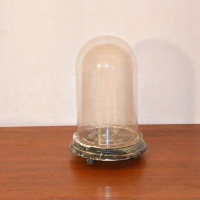 Petit globe de mariés en verre