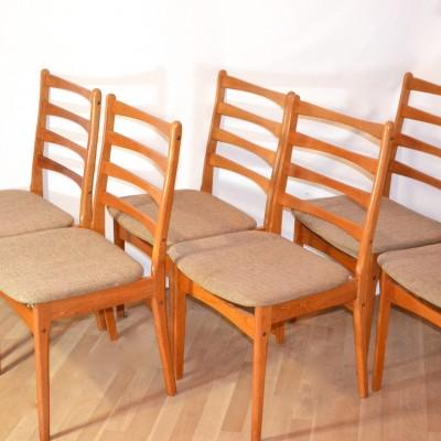 Série de 6 chaises scandinaves