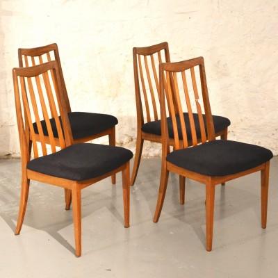 Série de 4 chaises velours G Plan