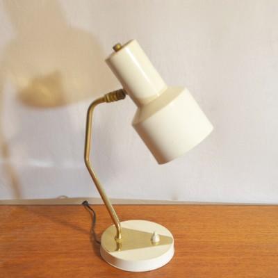 Lampe à poser blanche et dorée