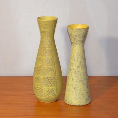 Céramiques West Germany jaunes
