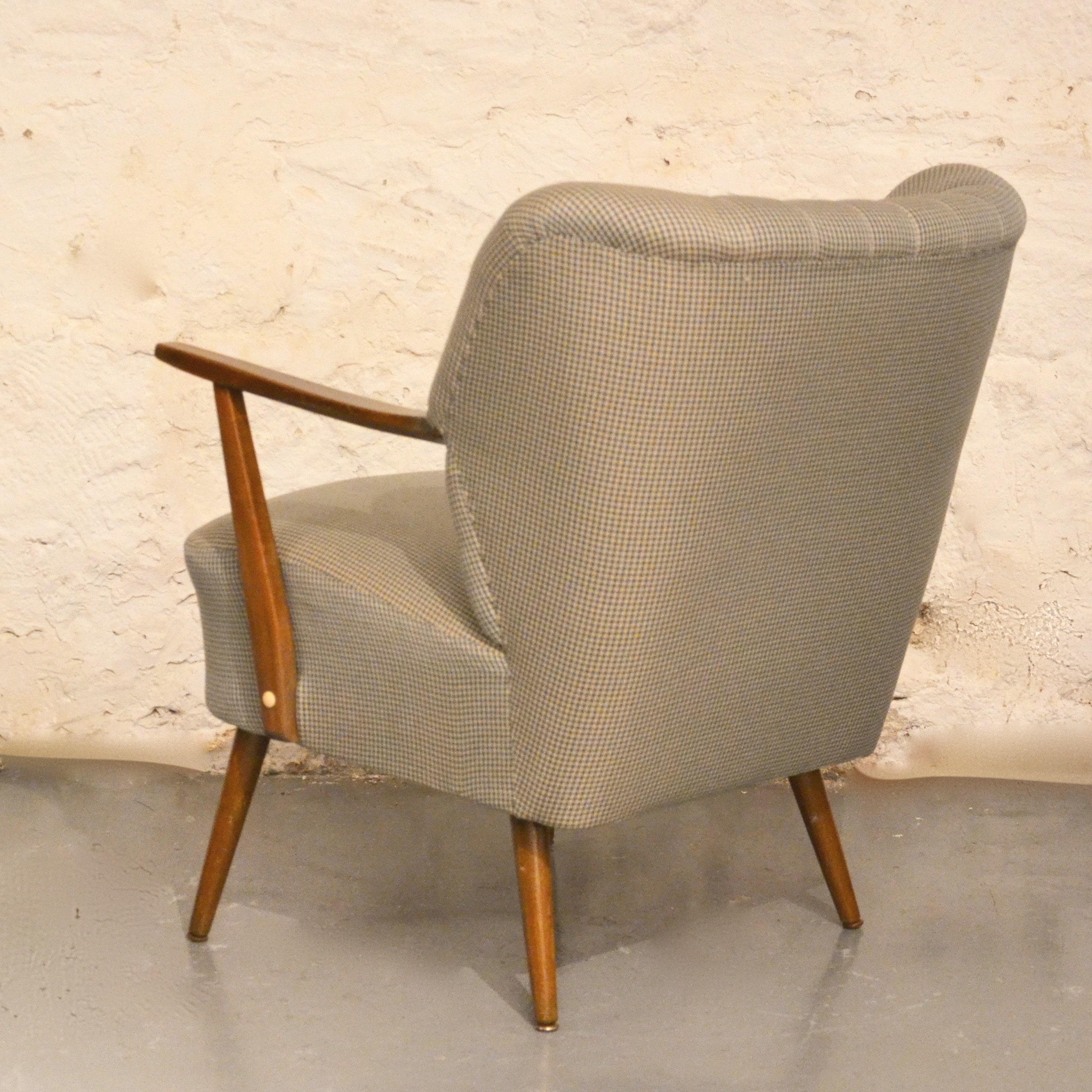 fauteuil cocktail pied de poule bindiesbindies. Black Bedroom Furniture Sets. Home Design Ideas