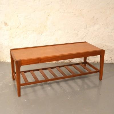 Table basse scandinave teck et céramique