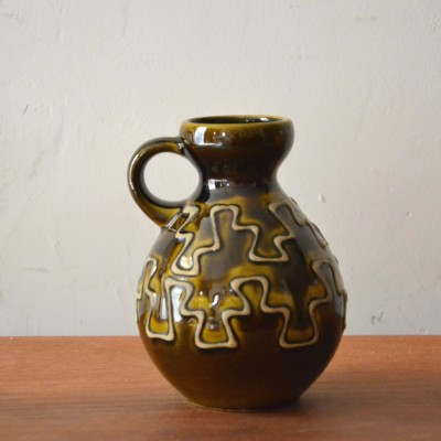 Petite céramique West Germany verte