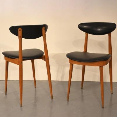 Paire de chaises P. Guariche