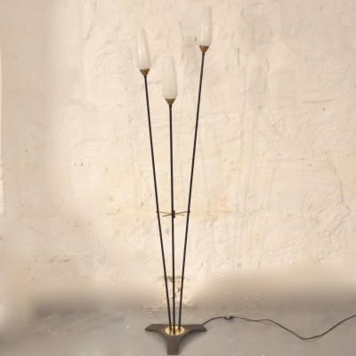 Lampadaire à trois flûtes