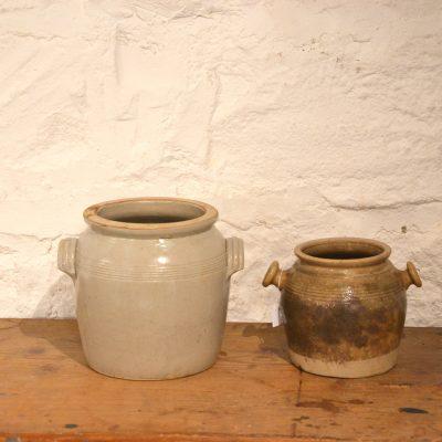 Anciens pots à Saindoux en grès