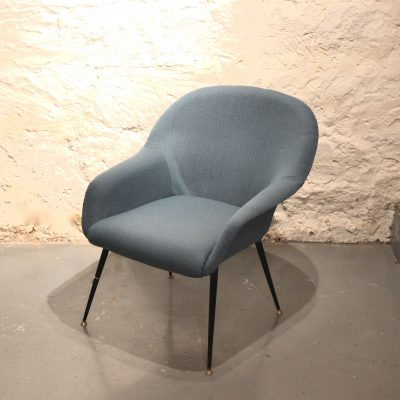 Fauteuil années 60 coquille