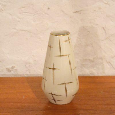 Petit vase blanc et doré