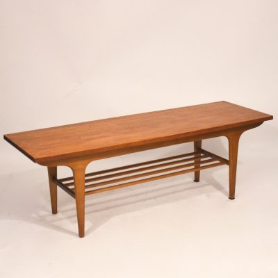 Table basse scandinave teck miel
