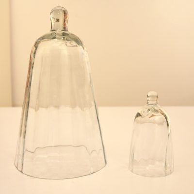 Duo de cloches en verre
