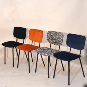 chaises vintage retapissées