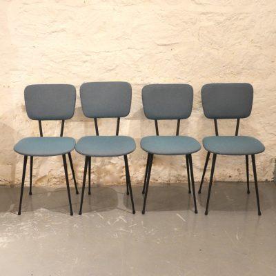 Paires de chaises années 60 motif chevron