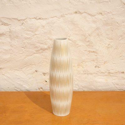 Vase blanc et doré