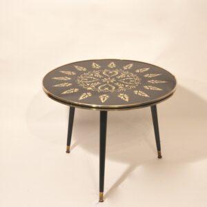 table basse ann es 60 noire et dor e bindiesbindies. Black Bedroom Furniture Sets. Home Design Ideas