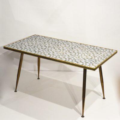 Table basse années 60 mosaïque