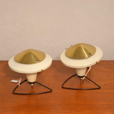Paire de lampes tchèques des années 60