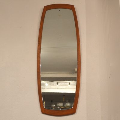 Grand miroir scandinave en teck