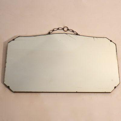 Miroir biseauté années 50 mercurisé