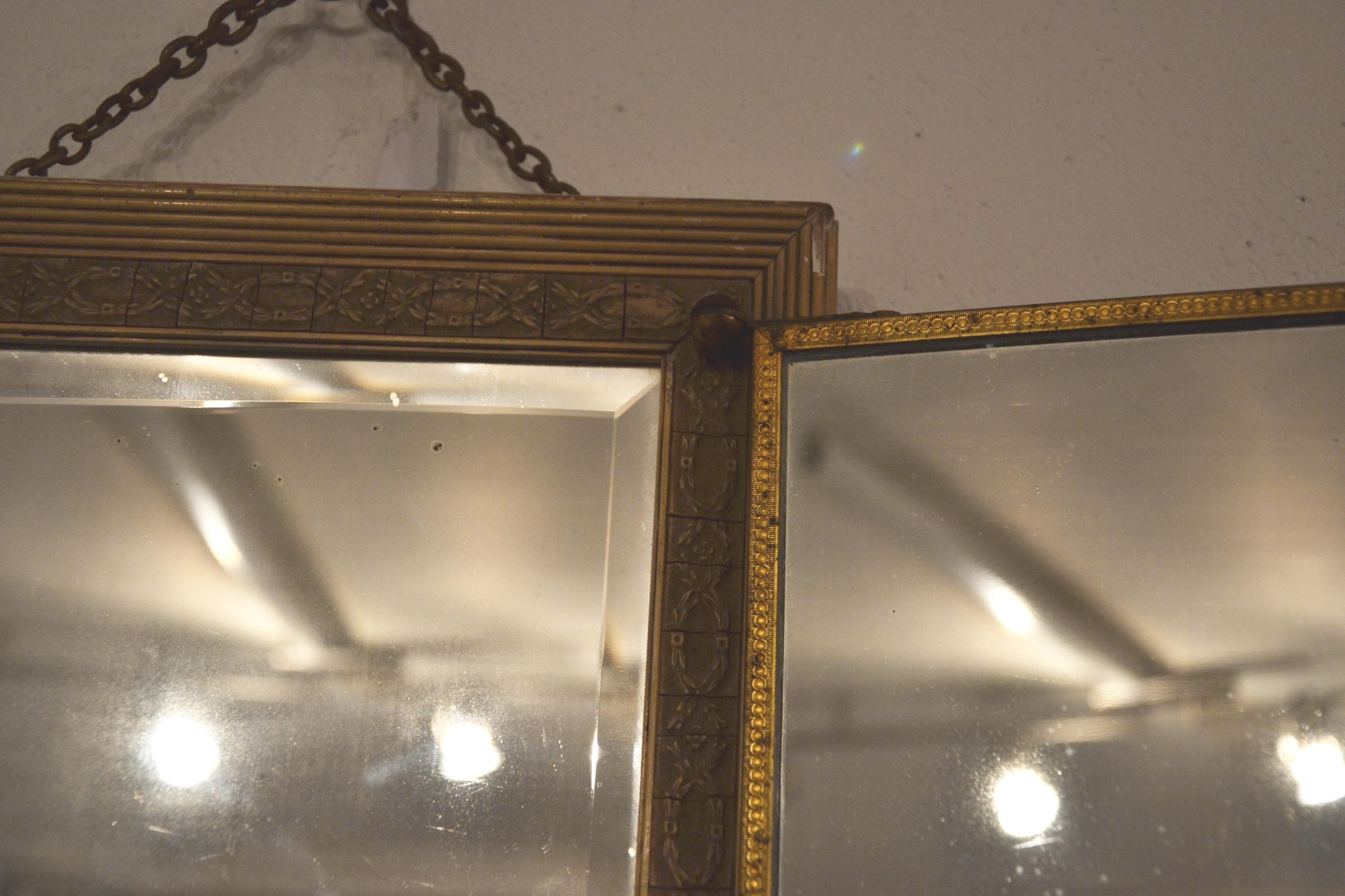 Miroir triptyque ancien bindies for Grand miroir solde