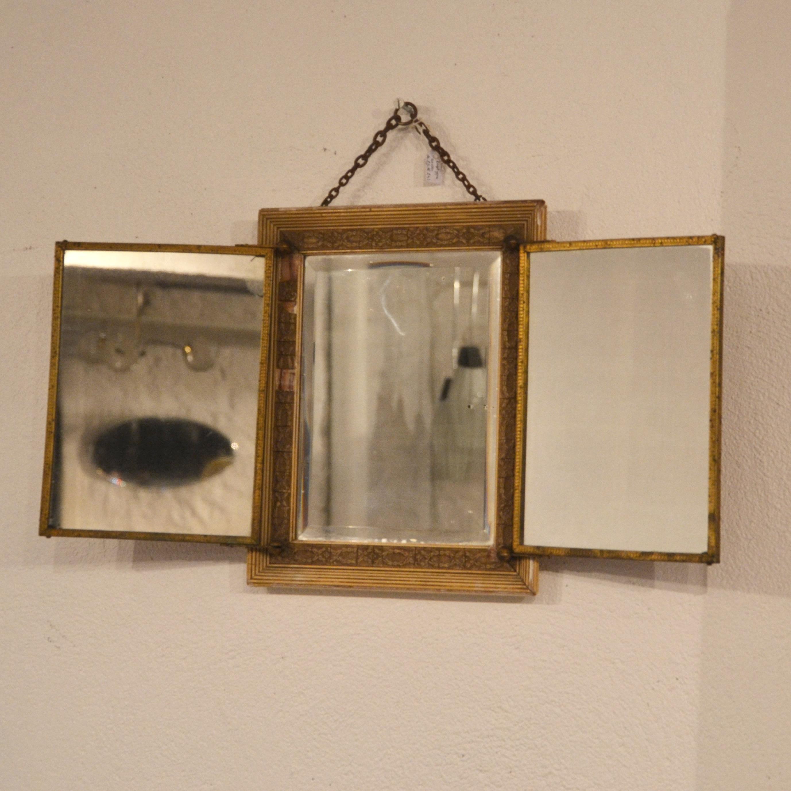 miroir triptyque ancien bindiesbindies. Black Bedroom Furniture Sets. Home Design Ideas
