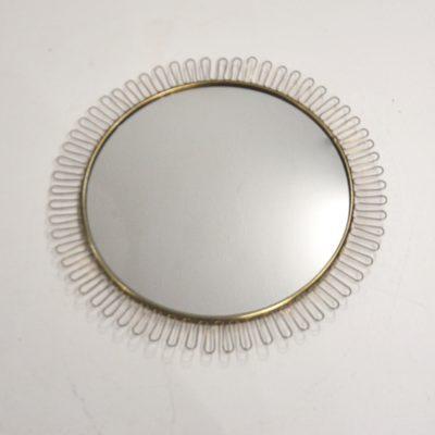 Miroir dentelle doré