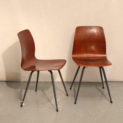 Paire de chaises Pagholz années 60