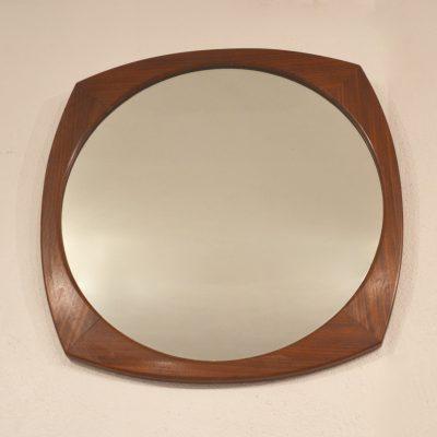 Miroir scandinave arrondi