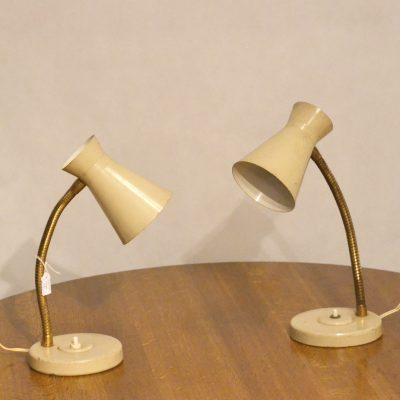 Paire de lampes à poser années 60