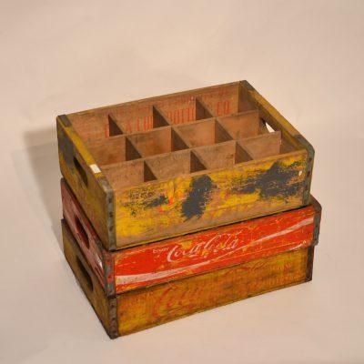 Caisses publicitaires Coca Cola anciennes