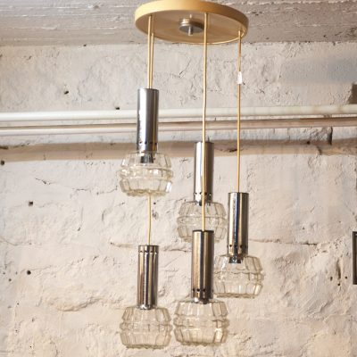 Suspension 5 globes en verre