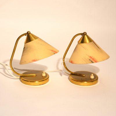 Paire de lampes à poser années 50