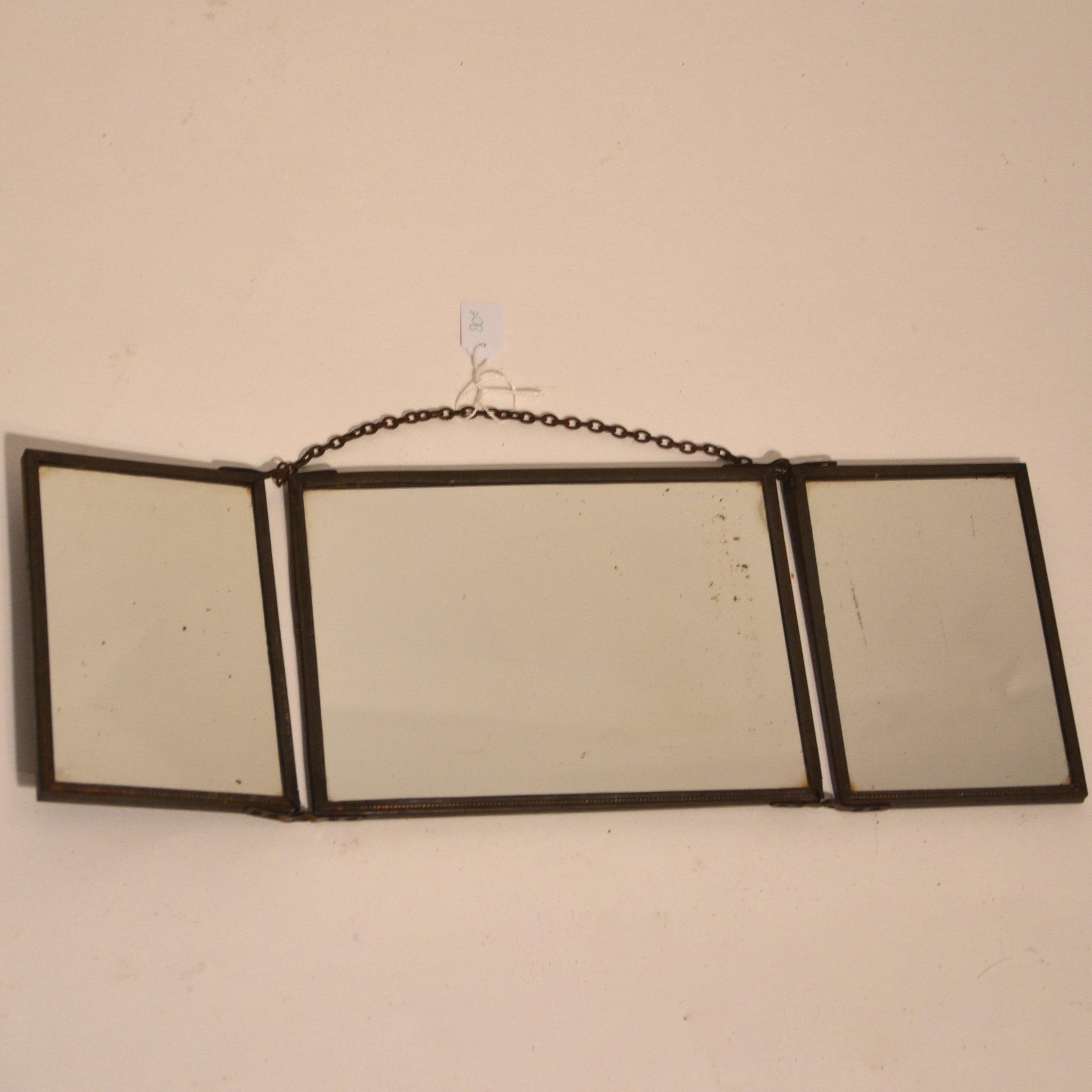 Miroir triptyque ancien - BINDIESBINDIES