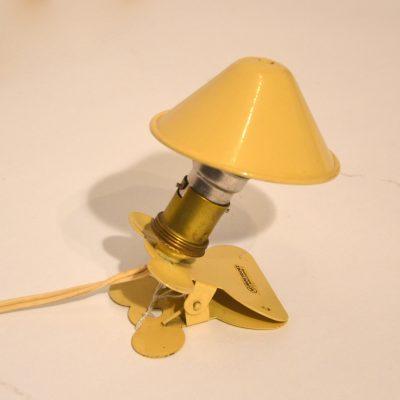 Mini lampe pince couleur crème