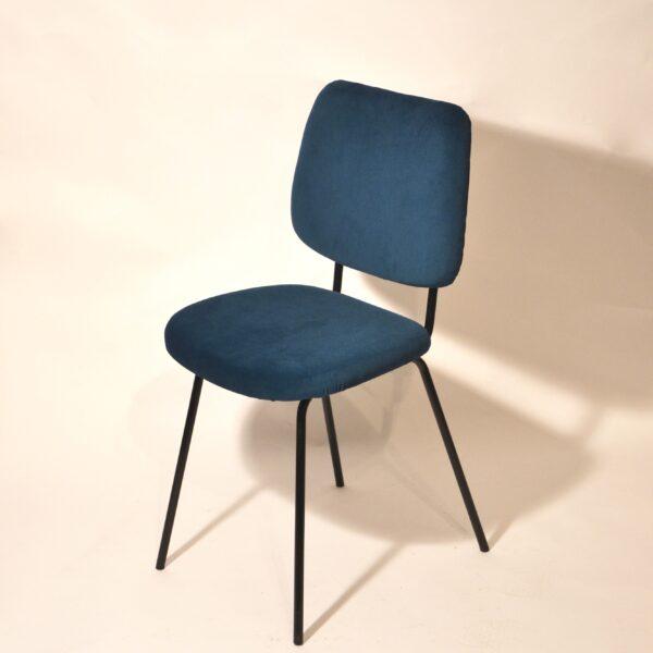 Chaises velours bleu modèle 3