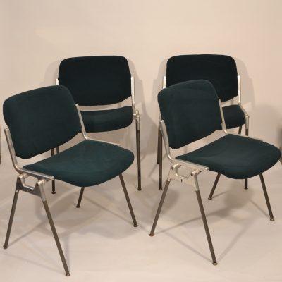 Série de 4 chaises Castelli vertes
