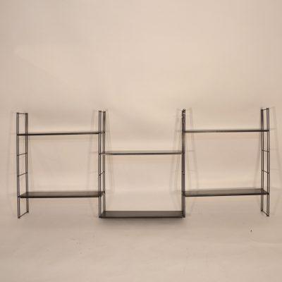 Système d'étagère modulable noir